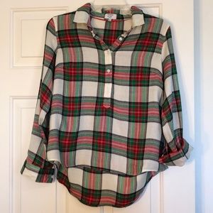 Crown & Ivy flannel blouse